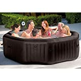 Intex 28435E Pure Spa 6 Person Inflatable Portable Outdoor Heated Bubble Hot Tub