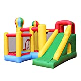 RETRO JUMP Inflatable Bounce House Castle Jumper Moonwalk Slide Bouncer Kids Jumper with Balls and Blower